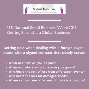 In Honor of U.S. National Small Business